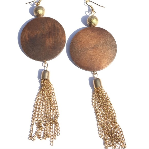 Jewelry - NEW! Stylish Wood Earrings